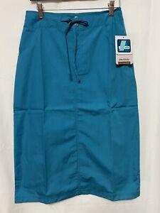 Adar Women Medical Nurse Uniform Mid Calf Length Drawstring 2 Pocket Scrub Skirt