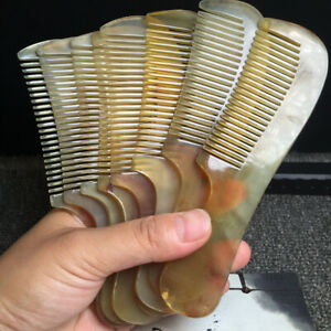 """6"""" 100% Pure Natural Superior Quality Unique Glossy Sheep Horn Health Care Comb"""