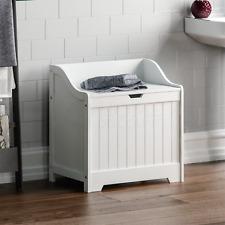 Priano Bathroom White Laundry Storage Cabinet Box Basket Organiser Unit