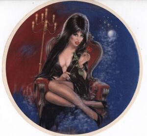 Vtg OG Elvira Water transfer Decal Queen of the Night Mistress Dark Goth Horror