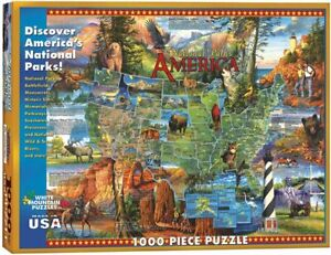 NEW DISCOVER AMERICA'S NATIONAL PARKS WHITE MOUNTAIN PUZZLES 1000 PIECE MONUMENT