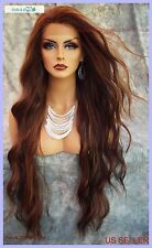 LACE FRONT WIG WAVY LONG WAVY GORGEOUS COLOR P4.27.30 NEW/TAGS USA SELLER 407
