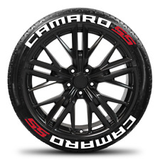 CAMARO SS - Permanent Tire Stickers -1.25in - 16in-18in Wheels - 8 Pack