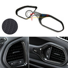 2 Carbon Fiber Type Dashboard Air Vent Frame Outlet Cover Trim For Jeep Renegade