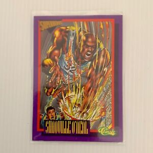 Shaquille ONeal Superheroes Card 1993 Classic Games Basketball Deathwatch