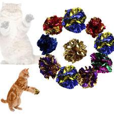 12pcs Mylar-Crinkle Foil Balls Cat Kitten Sound Play Toy Paper Rustle Hot JXQ
