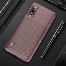 For Xiaomi Mi 9 Lite 9 SE 9T Pro Slim Carbon Fiber Hybrid Soft TPU Case Cover