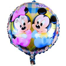 LOT DE 2 / BALLON ROND BABY MICKEY ET MINNIE FETE ANNIVERSAIRE ENFANT