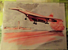 Map Expo School Poster set table Airplane Flight of the Concorde Period 1970