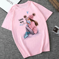 CZCCWD T-Shirt Women Harajuku Kawaii Super Mom Tshirt Leisure Comfortable Vogue