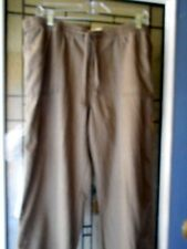 St John's Bay Linen Blend Light Brown Pants Size L