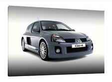 Renault Clio V6 - 30x20 Inch Canvas - Framed Picture Print Wall Art Work