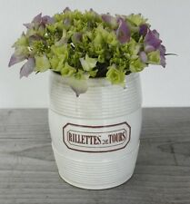 Lovely Large Antique Vintage Ironstone Rillettes de Tours Crock from France