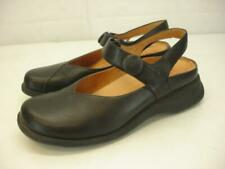 Women's 6 6.5 37 Murtosa Slingback Black Leather Shoes Comfort Sandals Mary Jane
