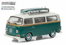 GREENLIGHT 1972 VW VOLKSWAGEN TYPE 2 VAN with SURFBOARD 1/64 GREEN 29855