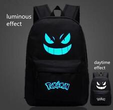 Noctilucence Pokemon GO Boy School Student Backpack Gengar Face Xmas Gift