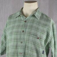 Patagonia Men's L Textured Button Front Short Sleeve Shirt Organic Cotton
