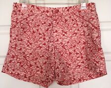 Columbia Nylon Short Shorts Zip Front Pink Off-White Multi Abstract Dots Women 4