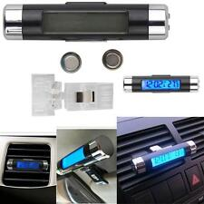 1x Car 2In1 Air Vent Clip-on Electronic Clock Time Thermometer LED Backlight GE