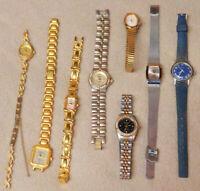 Mixed estate find ladies writst Watch Lot3 old parts drawer vintage XW
