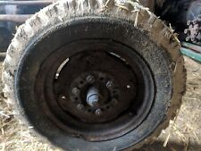 FRONT WHEEL WITH TYRE HOLDS AIR - REMOVED FROM MASSEY FERGUSON 35 GREY GOLD