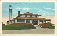 Peru Indiana~Mississinewa Country Club~Flag Over Water Tower 1926 Postcard