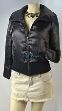 A/X ARMANI EXCHANGE Puffer Jacket thin quilted COAT moto PARKA shimmer SZ XS VTG