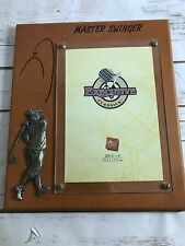 RUSS EXECUTIVE CLASSICS  PICTURE FRAME  Wooden Golfer