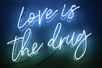 "24""x20""Love Is The Drug Neon Sign Light Home Room Wall Hanging Nightlight Gift"