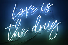 New Love Is The Drug Bar Artwork Real Glass Acrylic Neon Light Sign 24""
