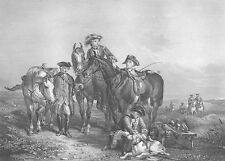 England HAWKING PARTY FALCON HUNTING GAME HORSES Dogs ~ 1863 Art Print Engraving