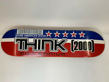 RARE THINK DECK PRO SKATER OWNED Sticker 2000 Millennium Pure American Wood Vntg