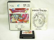 MSX DRAGON QUEST 1 White ref/2072 MSX2 Import Japan Video Game msx