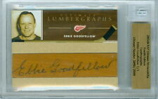 2003-04 BAP EBBIE GOODFELLOW 1/1 AUTO HOF LUMBERGRAPH ULTIMATE 4TH EDITION WINGS