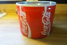 Coca-Cola soda pop mfg co vtg  advertising metal pail with handle,no lid,