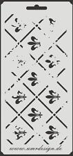 Scrapbooking Schablone S-026  Fleur  Vintage ~ Stencil ~ UMR-Design