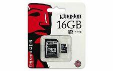 Kingston 16GB MicroSD HC MicroSDHC Memory Card 16 GB SDC4/16GB with Adapter