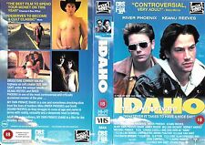 MY OWN PRIVATE IDAHO VHS PAL RIVER PHOENIX,KEANU REEVES,UDO KIER,JAMES RUSSO 90S