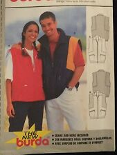 Amazing  BURDA 3000 Unisex Seam Interest Vest PATTERN MS 12-26/Mens 34-48 UC