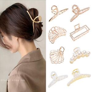 Women Metal Modern Hair Claw Clips Barrette Crab Clamp Hairband Hair Accessories