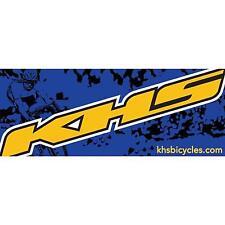 "Khs Racing Banner Blue w/Yellow Khs logo 36"" x 14"" Bike"