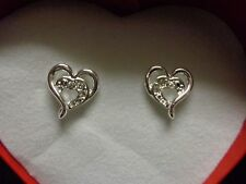 Avon Open Your Heart Earrings Costume Jewelry Silver Tone