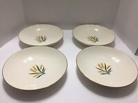 Vintage Set Of 4 Wheat Inner Design Soup Salad Pasta Bowls Unbranded Excellent