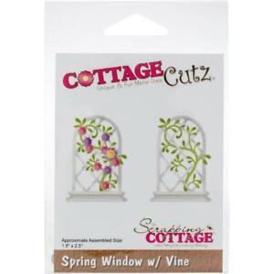 """CottageCutz Dies Spring Window W/Vine 1.8""""X2.5"""" New -Unopened CC425"""