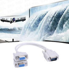 For Video TV HDTV VGA1-2 HDMI 1 to 2 Split Double Signal Adapter Convert Cables
