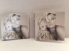 LOT of 2 GUESS GOLD WOMEN 0.05 oz / 1.52 ML Eau De Parfum VIAL SAMPLE SPLASH NEW