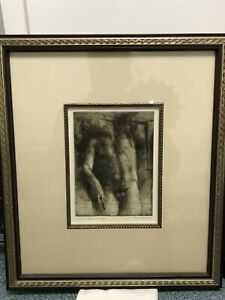 Nude Male Etching Engraving Gay Interest