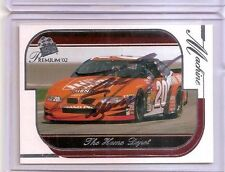 2002 TONY STEWART signed NASCAR PRESS PASS CARD HOME DEPOT PONTIAC GRAND PRIX wC