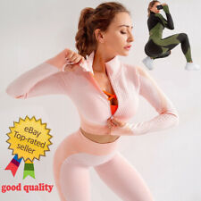Seamless  Workout Yoga Sets Female Sport Gym suit Wear Running Clothes women.