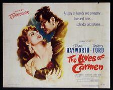 THE LOVES OF CARMEN RITA HAYWORTH 1948 PORTRAIT STYLE HALF-SHEET